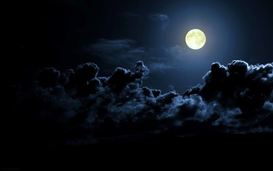 Moon Night Clouds Sky Earth Nature Background Images